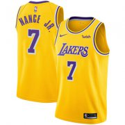 Wholesale Cheap Nike Los Angeles Lakers #7 Larry Nance Jr. Gold NBA Swingman Icon Edition Jersey