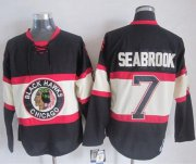 Wholesale Cheap Blackhawks #7 Brent Seabrook Black Third CCM Stitched NHL Jersey