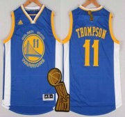 Wholesale Cheap Golden State Warriors #11 Klay Thompson Revolution 30 Swingman 2014 New Blue Jersey