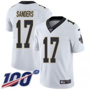 Wholesale Cheap Nike Saints #17 Emmanuel Sanders White Youth Stitched NFL 100th Season Vapor Untouchable Limited Jersey