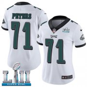 Wholesale Cheap Nike Eagles #71 Jason Peters White Super Bowl LII Women's Stitched NFL Vapor Untouchable Limited Jersey