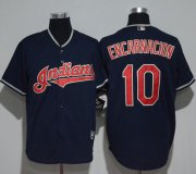Wholesale Cheap Indians #10 Edwin Encarnacion Navy Blue New Cool Base Stitched MLB Jersey