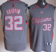 Wholesale Cheap Los Angeles Clippers #32 Blake Griffin Gray Shadow Jersey