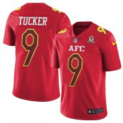 Wholesale Cheap Nike Ravens #9 Justin Tucker Red Youth Stitched NFL Limited AFC 2017 Pro Bowl Jersey