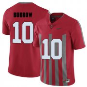 Wholesale Cheap Ohio State Buckeyes 10 Joe Burrow Red College Football Elite Jersey