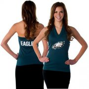 Wholesale Cheap Women's All Sports Couture Philadelphia Eagles Blown Coverage Halter Top