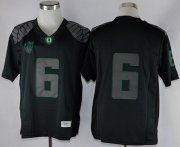 Wholesale Cheap Oregon Ducks #6 Charles Nelson 2013 Lights Black Out Limited Jersey