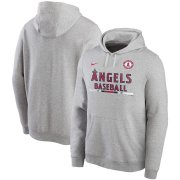 Wholesale Cheap Los Angeles Angels Nike Color Bar Club Pullover Hoodie Gray
