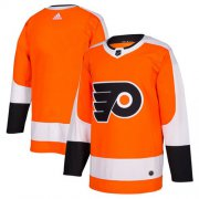 Wholesale Cheap Adidas Flyers Blank Orange Home Authentic Stitched NHL Jersey