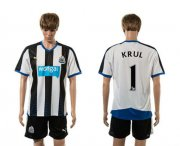 Wholesale Cheap Newcastle #1 Krul Home Soccer Club Jersey