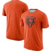 Wholesale Cheap Men's Chicago Bears Nike Orange Sideline Cotton Slub Performance T-Shirt