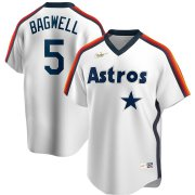 Wholesale Cheap Houston Astros #5 Jeff Bagwell Nike Home Cooperstown Collection Logo Player MLB Jersey White