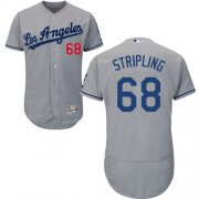 Wholesale Cheap Dodgers #68 Ross Stripling Grey Flexbase Authentic Collection Stitched MLB Jersey