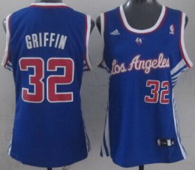 Wholesale Cheap Los Angeles Clippers #32 Blake Griffin Blue Womens Jersey