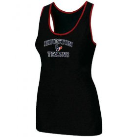 Wholesale Cheap Women\'s Nike Houston Texans Heart & Soul Tri-Blend Racerback Stretch Tank Top Black