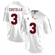 Wholesale Cheap Stanford Cardinal 3 K.J. Costello White College Football Jersey