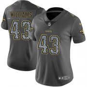 Wholesale Cheap Nike Saints #43 Marcus Williams Gray Static Women's Stitched NFL Vapor Untouchable Limited Jersey