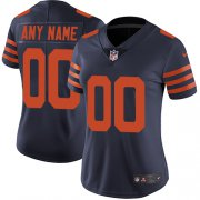 Wholesale Cheap Nike Chicago Bears Customized Navy Blue Alternate Stitched Vapor Untouchable Limited Women's NFL Jersey