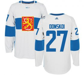 Wholesale Cheap Team Finland #27 Joonas Donskoi White 2016 World Cup Stitched NHL Jersey