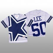 Wholesale Cheap NFL Dallas Cowboys #50 Sean Lee White Men's Mitchell & Nell Big Face Fashion Limited NFL Jersey