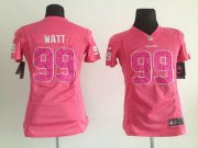 Wholesale Cheap Nike Texans #99 J.J. Watt Pink Sweetheart Women's Stitched NFL Elite Jersey