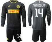 Wholesale Cheap Inter Milan #14 Nainggolan Third Long Sleeves Soccer Club Jersey