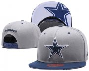 Wholesale Cheap NFL Dallas Cowboys Team Logo Gray Snapback Adjustable Hat LT10