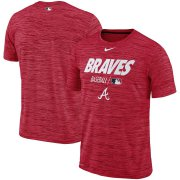 Wholesale Cheap Atlanta Braves Nike Authentic Collection Velocity Team Issue Performance T-Shirt Red