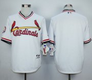 Wholesale Cheap Cardinals Blank White 1982 Turn Back The Clock Stitched MLB Jersey