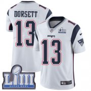Wholesale Cheap Nike Patriots #13 Phillip Dorsett White Super Bowl LIII Bound Youth Stitched NFL Vapor Untouchable Limited Jersey