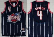 Wholesale Cheap Houston Rockets #4 Charles Barkley ABA Hardwood Classic Swingman Navy Blue Jersey