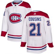 Wholesale Cheap Adidas Canadiens #21 Nick Cousins White Road Authentic Stitched NHL Jersey