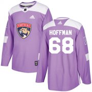 Wholesale Cheap Adidas Panthers #68 Mike Hoffman Purple Authentic Fights Cancer Stitched Youth NHL Jersey