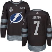 Cheap Adidas Lightning #7 Mathieu Joseph Black 1917-2017 100th Anniversary 2020 Stanley Cup Champions Stitched NHL Jersey