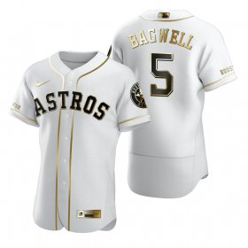 Wholesale Cheap Houston Astros #5 Jeff Bagwell White Nike Men\'s Authentic Golden Edition MLB Jersey