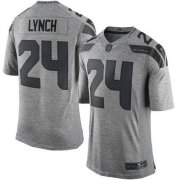 Wholesale Cheap Nike Seahawks #24 Marshawn Lynch Gray Men's Stitched NFL Limited Gridiron Gray Jersey