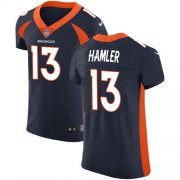 Wholesale Cheap Nike Broncos #13 KJ Hamler Navy Blue Alternate Men's Stitched NFL New Elite Jersey