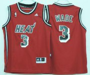 Cheap Miami Heat #3 Dwyane Wade ABA Hardwood Classics Swingman Red Kids Jersey