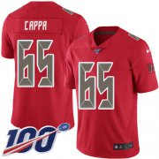 Wholesale Cheap Nike Buccaneers #65 Alex Cappa Red Men's Stitched NFL Limited Rush 100th Season Jersey