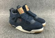 Wholesale Cheap Air Jordan 4 Retro Denim Blue/White-Tan