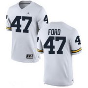 Wholesale Cheap Men's Michigan Wolverines #47 Gerald Ford White Stitched College Football Brand Jordan NCAA Jersey