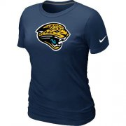 Wholesale Cheap Women's Nike Jacksonville Jaguars Logo NFL T-Shirt Dark Blue