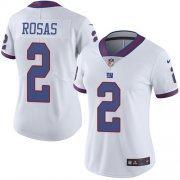 Wholesale Cheap Nike Giants #2 Aldrick Rosas White Women's Stitched NFL Limited Rush Jersey