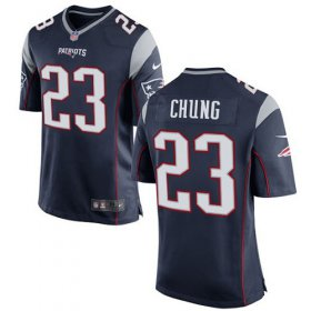 Wholesale Cheap Nike Patriots #23 Patrick Chung Navy Blue Team Color Youth Stitched NFL New Elite Jersey