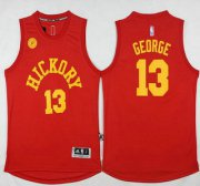 Wholesale Cheap Men's Indiana Pacers #13 Paul George Revolution 30 Swingman 2015-16 New Red Jersey