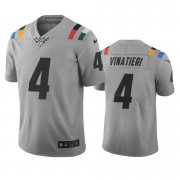 Wholesale Cheap Indianapolis Colts #4 Adam Vinatieri Gray Vapor Limited City Edition NFL Jersey