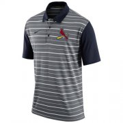 Wholesale Cheap Men's St.Louis Cardinals Nike Gray Dri-FIT Stripe Polo