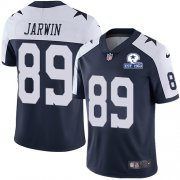 Wholesale Cheap Nike Cowboys #89 Blake Jarwin Navy Blue Thanksgiving Men's Stitched With Established In 1960 Patch NFL Vapor Untouchable Limited Throwback Jersey