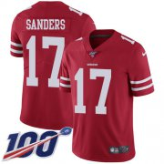 Wholesale Cheap Nike 49ers #17 Emmanuel Sanders Red Team Color Men's Stitched NFL 100th Season Vapor Limited Jersey