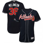 Wholesale Cheap Braves #36 Mark Melancon Navy Blue Flexbase Authentic Collection Stitched MLB Jersey